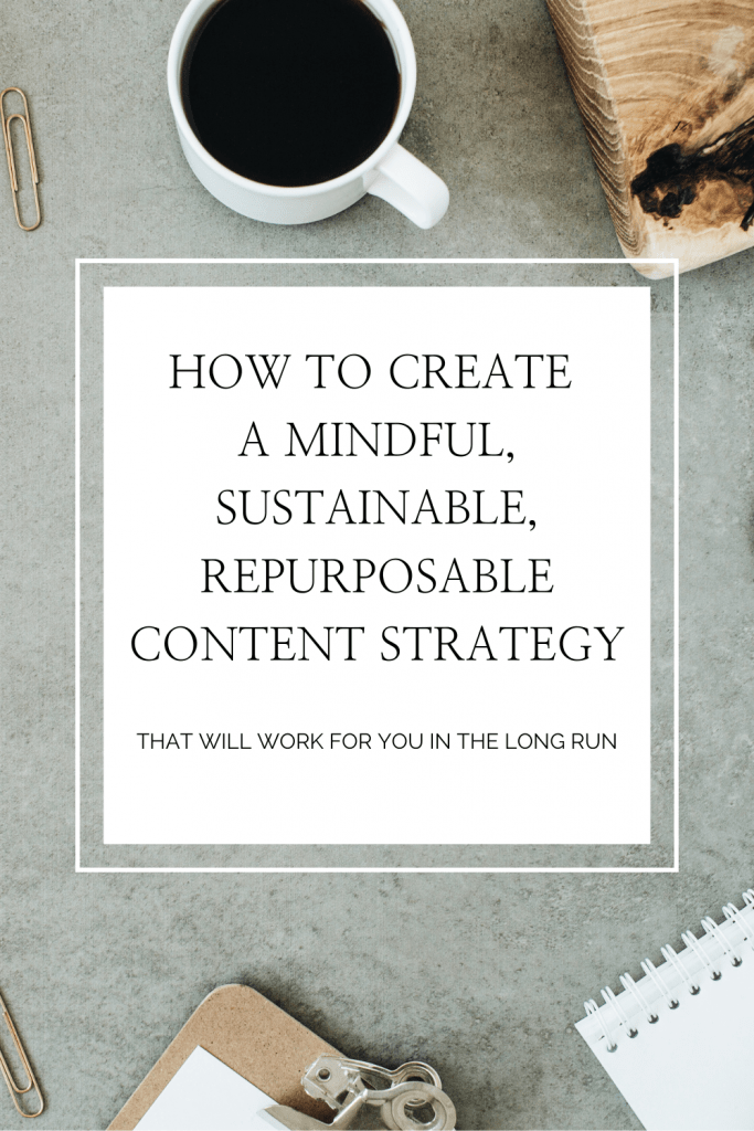 Complete Content Strategy for 2020 and 2021 flatlay image with text.